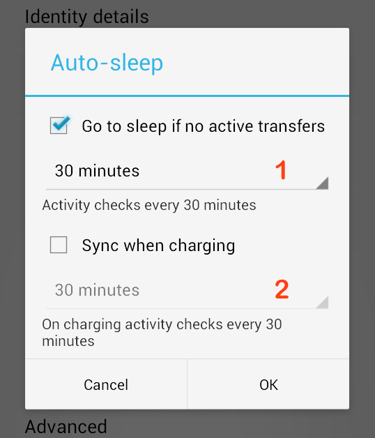 Configuring Auto Sleep & Battery Saver (Android) – Sync
