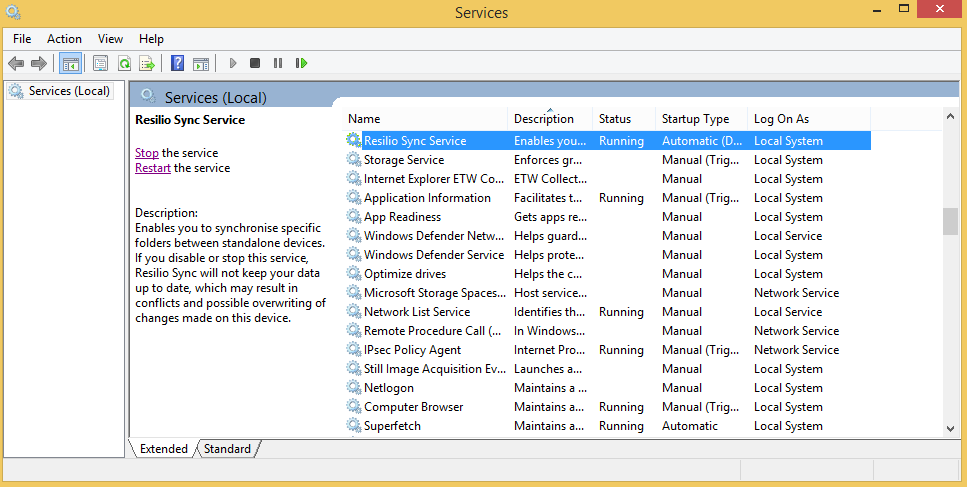 How to restart services on windows 8